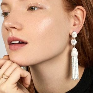Bauble Bar Granita Beaded Tassel Earrings